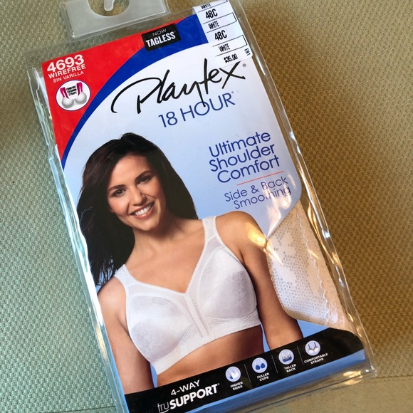 best place 2019 best pretty cool Playtex Bra #4693 Size 48C NWT